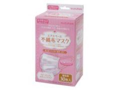 エアスペース 不織布マスク小さめ30枚個包装ピンク